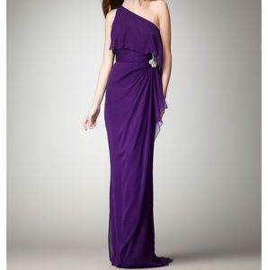 Badgley Mischka One Shoulder Gown